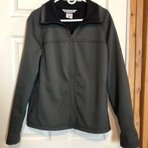 Columbia Women's Soft Shell Jacket Grey Size XL